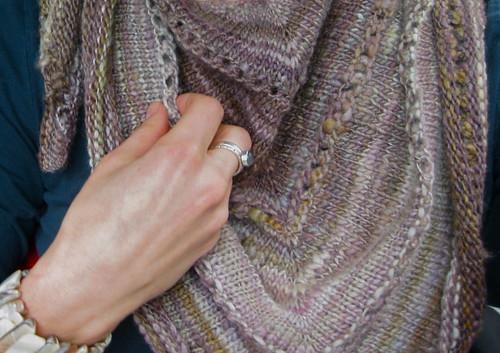 First handspun shawl