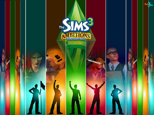 3/24/10 - Cidade dos Sims: wallpaper for The Sims 3 Ambitions