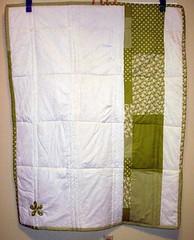 quilt back finished