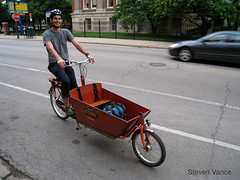 Me riding a bakfiets
