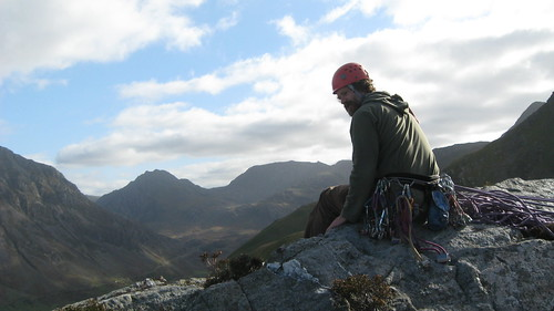 Peter enjoying the view after climbing Central Route