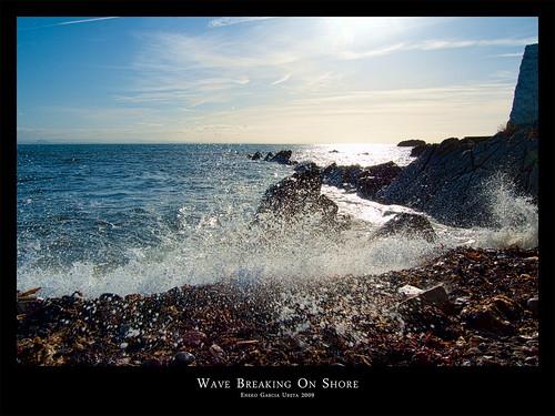 WAVE BREAKING ON SHORE
