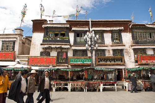 Walking on the Barkor in Lhasa