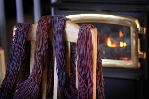 wool dying by the fire