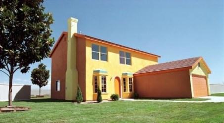 Casas Color Naranja Exterior 1