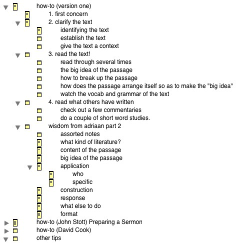 tinderbox sermon-writing template