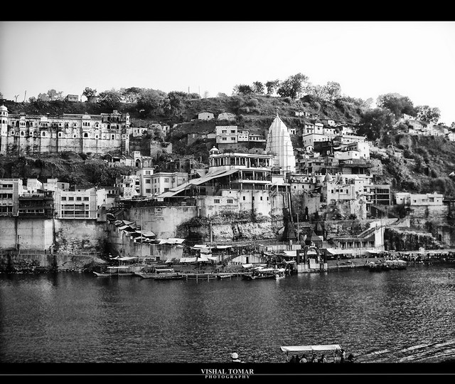 Omkareshwar ghat on narmadaji