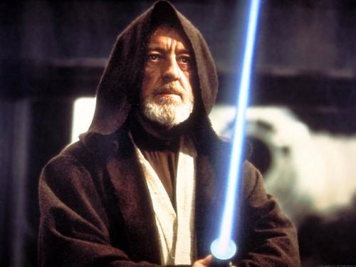 Alec Guinness as Obiwan Kenobi in Star Wars
