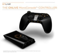 OnLive - MicroConsole & Controller