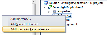 Add Library Package Reference