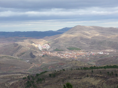 The village seen from the nearest mountain