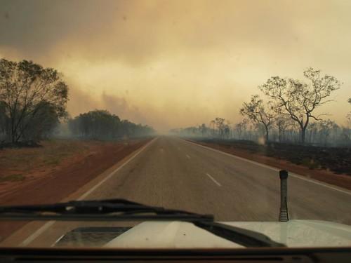Bushfires on the edge of Broome