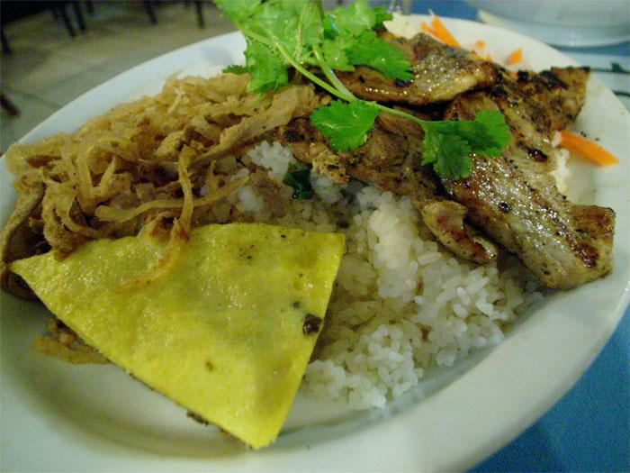 Grilled pork chop rice