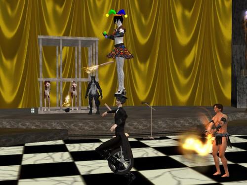 Balancing at Phasmagoria Circus