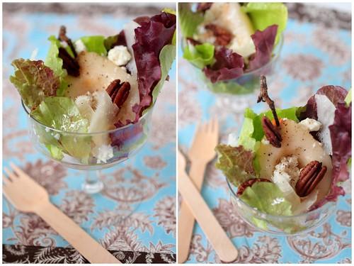 Pear Salad Diptych