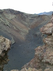 View of crater from above