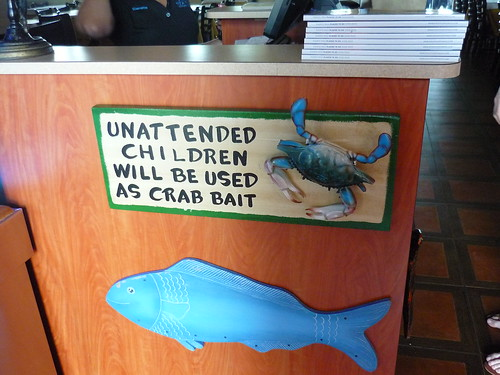 Unattended children will be used as crab bait