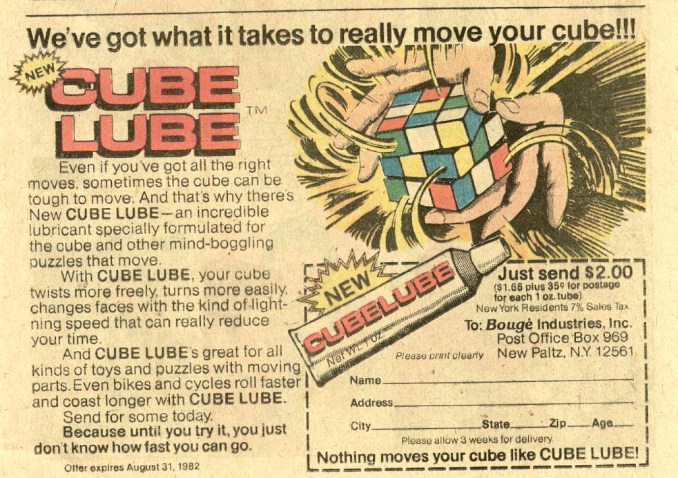 Rubick's Cube Lube