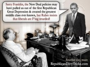 Barack Obama Meets FDR Liberals are Retarded Image