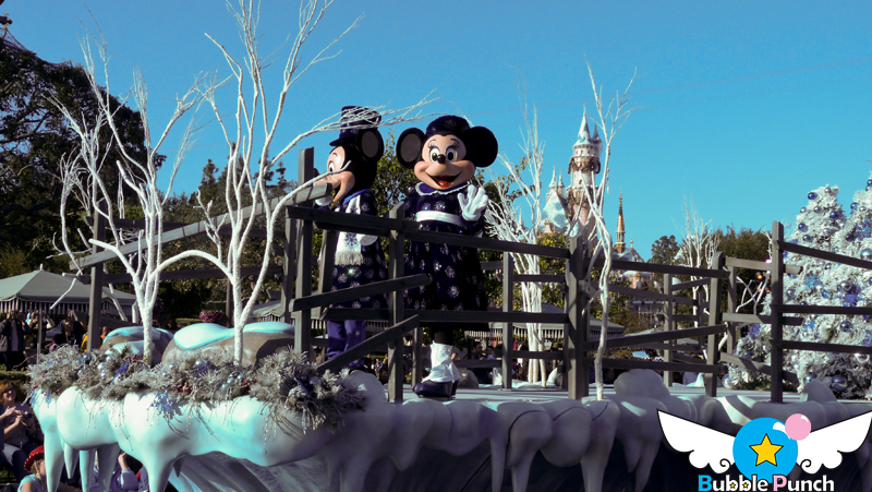 Mickey and Minnie cuttin a rug! eerr... ice!