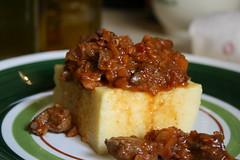 polenta and boar sauce