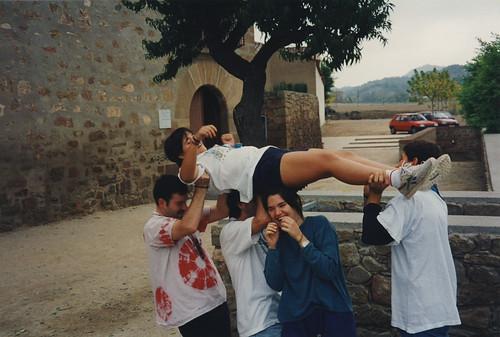 Àlbum Curs 1995-96, colònies a Mas Suro'96 i campaments a Planoles'96