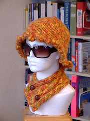 scarflette and pixie hat
