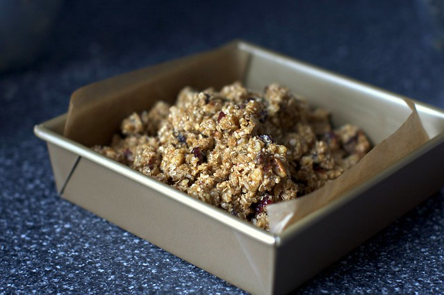 "granola ""batter"", to be baked"