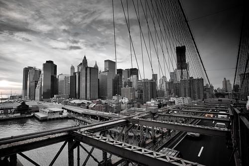 NYCVintage-04 Sunset off Brooklyn Bridge