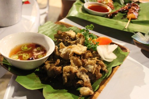 Chicharong Bulaklak at Obsidian Bar and Grill