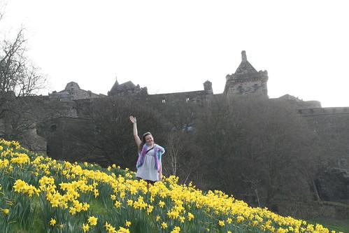 Alicia and Edinburgh Castle