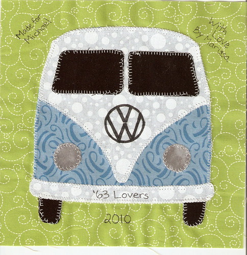 VW Bus Quilt Label
