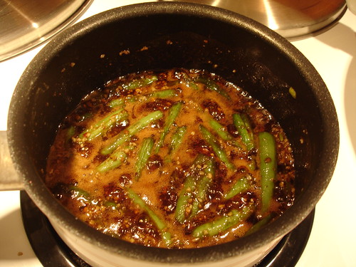 Pecan Encrusted Hawaiian Sunfish with Teriyaki Green Beans and Baked Grits