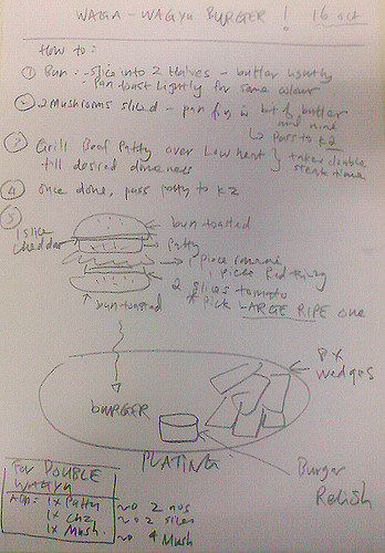 Instructions on how to make a TGS Wagyu Burger
