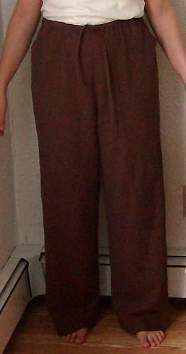 linen pants front