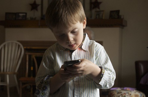 Child with iPhone