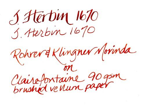 Rohrer & Klingner Morinda and J. Herbin 1670