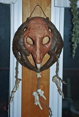 ceramic vulture mask