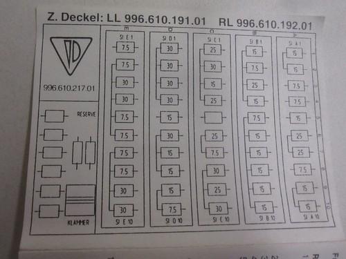 1997 Vs 1999 Fuse Assignments Diagrams Porsche Babblers