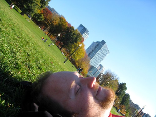 matt napping in boston common
