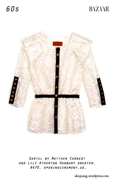 Sartel by Matthew Earnest and Lily Atherton Hanbury sweater, $470. openingceremony.us.