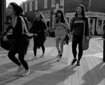 College Majorettes Barefoot