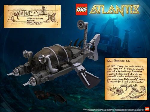 LEGO Atlantis submarine