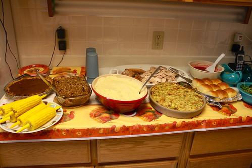 Thanksgiving Spread 2009