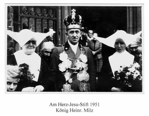 1951 Am Herz Jesu Stift, König Heinrich Milz SW065