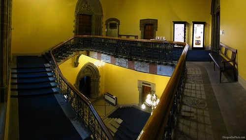 Stairs to the Hunterian Museum and Bute Hall