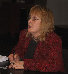 Michelle Magorian, signing