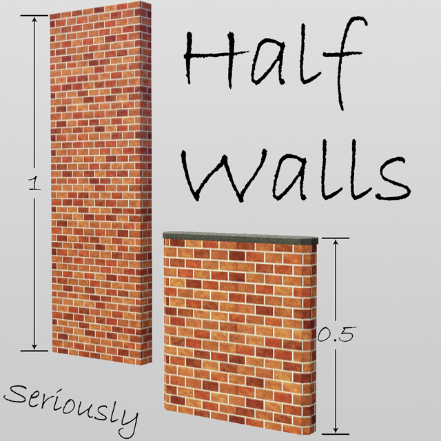 MTS - Half Walls for The Sims 3 mod