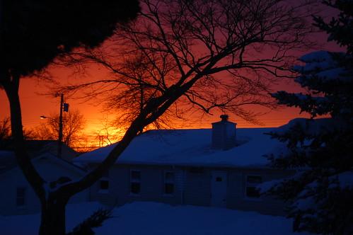 354: Snowy sunset