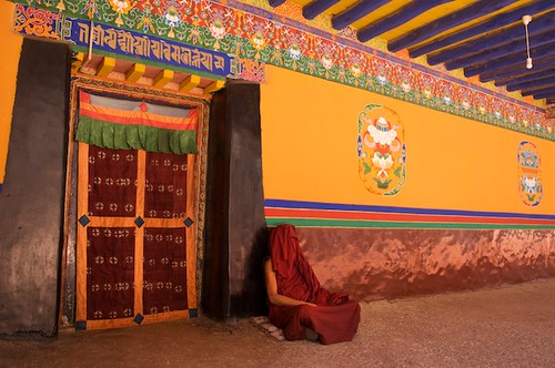 A Sleeping Tibetan Buddhist Monk